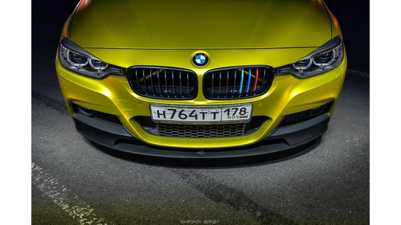 Сплиттер переднего бампера M Performance BMW F30/F31